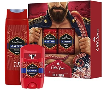 Old Spice Captain Dusjgel Og Deostick